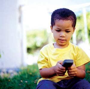 بچه ها و تلفن همراه