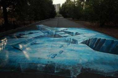 نقاشیهای 3 بعدی دریکی از پارکهای روسیه