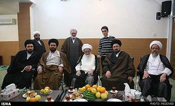 صافی گلپایگانی در دیدار با سیدحسن خمینی