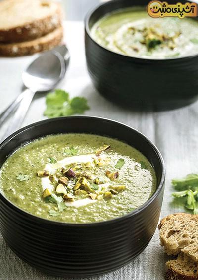 سوپ سبز کرمی