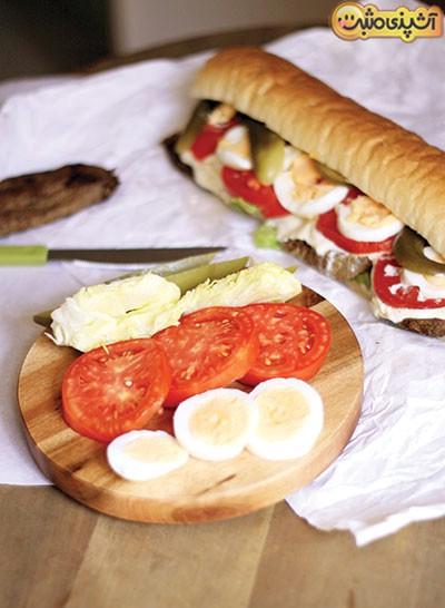 روش تهیه6 نوع ساندویچ پر و پیمان برای پذیراییاز مهمانان نوروزی