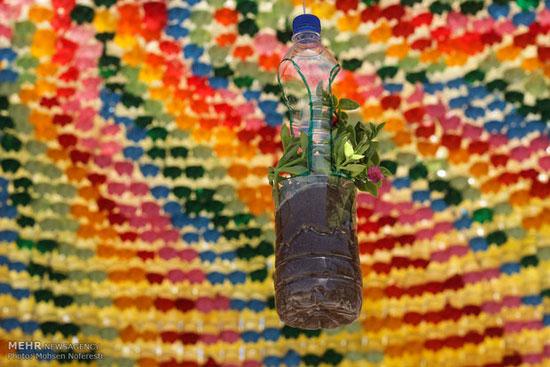 ساخت آلاچیق از مواد بازیافتی