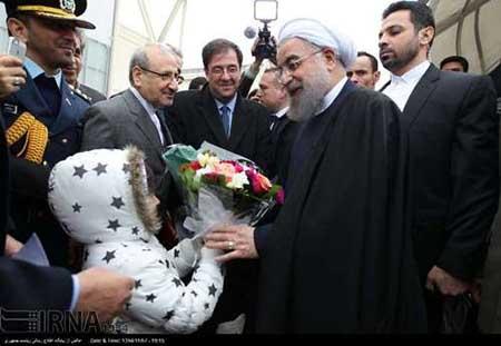 اخبار,اخبار سیاست  خارجی  , ورود روحانی به پاریس