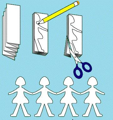 کاردستی آدمک های کاغذی,آدمک کاغذی