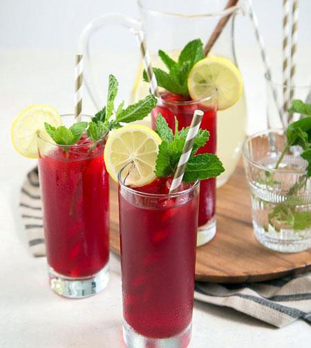 آشنایی با روش تهیه لیموناد چای ترش نعنایی