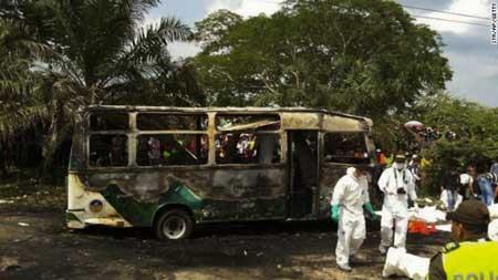 اخبار ,اخبار حوادث ,آتشسوزی اتوبوس کودکان در کلمبیا