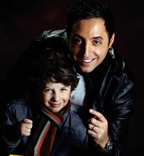 عکس های امیر حسین رستمی و پسرش