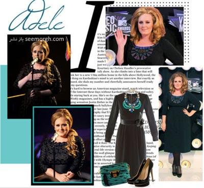 ست کردن لباس به سبک ادل,ست کردن لباس شب به سبک Adele,عکس ادل