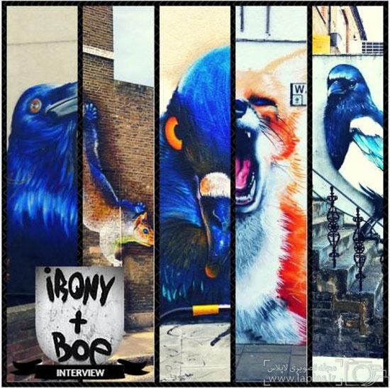 حیوانات روی دیوارهای لندن