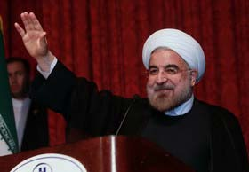 روحانی در دانشگاه تهران
