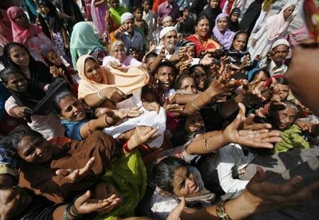 توزیع نذورات در راجستان هند