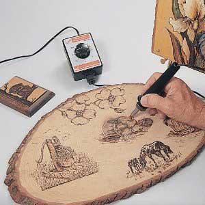 سوخته کاری روی چوب,آموزش معرق