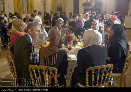 عکس: اوباما در مراسم افطار مسلمانان آمریکا