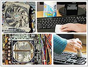 کارت گرافیک, تمیز کردن کامپیوتر