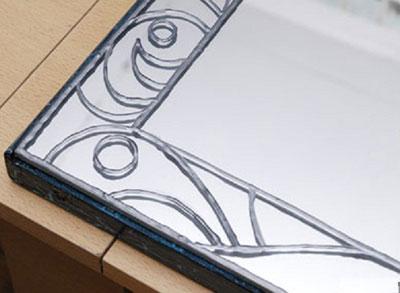 آموزش هنر ویترای,تزیین آینه با ویترای
