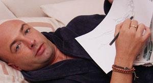 مردی كه در خواب نقاشی می كشد