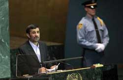 ساعت ٢٠:۳۰ پنجشنبه به وقت تهران؛ احمدی نژاد در مجمع عمومی سازمان ملل سخنرانی می كند