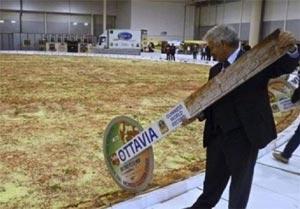 بزرگترین پیتزای جهان , اندازه بزرگترین پیتزا