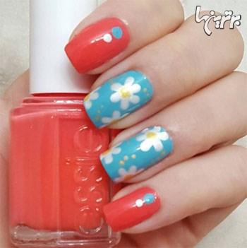 زیباترین طرح های گلدار ناخن برای بهار