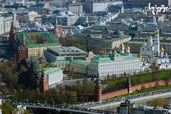 روسیه را از آسمان نگاه کنید