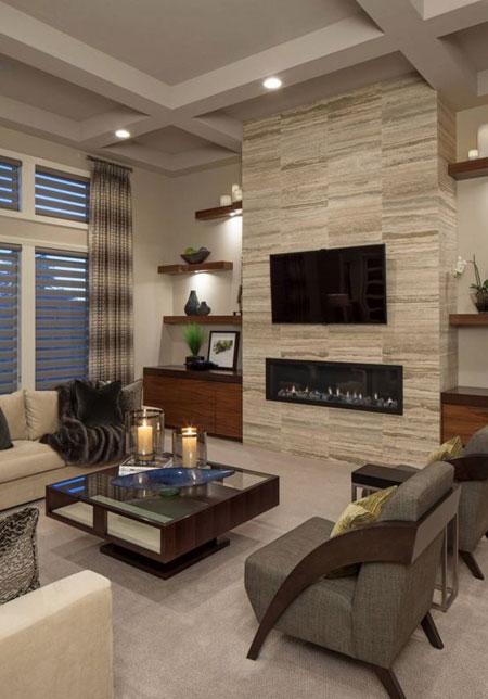 به سبک مدرن اتاقنشیمن خود را طراحی کنید