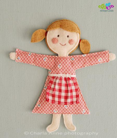 ریسه عروسک نمدی مخصوص اتاق کودک