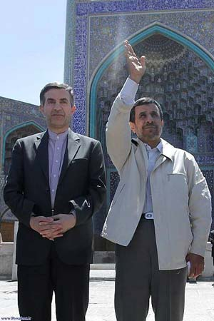 احمدی نژاد در اصفهان,نقشه برای انتخابات,احمدی نژاد و مشایی