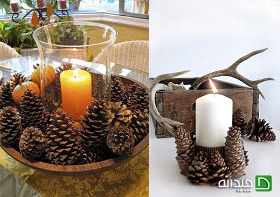 پاییزی کردن دکوراسیون منزل با تزئین میوه کاج!