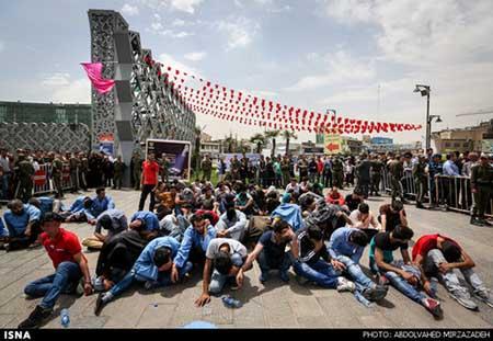 اخبار,اخبارحوادث,پاتک شبانه پلیس تهران به لانه معتادان