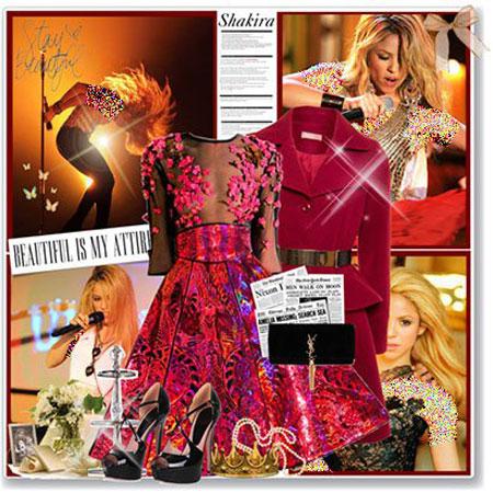ست لباس رنگ سال 2015,ست کردن لباس 2015 به سبک ستارگان هالیوودی
