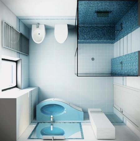 طراحی سرویس بهداشتی های کوچک, دکوراسیون حمام و دستشویی کوچک