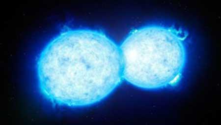 کشف بزرگترین سیستم دو ستارهای نادر حین بوسه مرگ