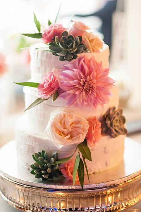 مدل های تزیین کیک عروسی با گل های طبیعی, مدل های تزیین کیک عروسی با گل های طبیعی