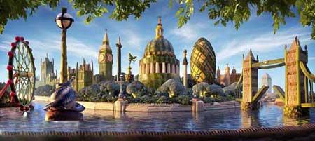 ساخت ماکت شهر لندن با استفاده از مواد خوراکی