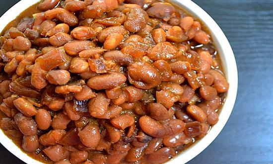 خوراک لوبیای کبابی