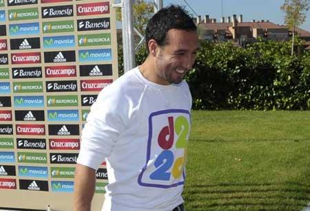 کاسیاس در اردوی تیم ملی اسپانیا