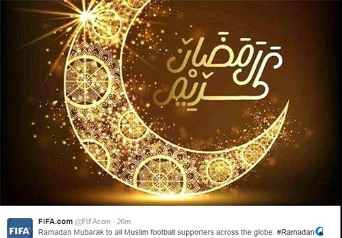 فیفا حلول ماه مبارک رمضان را تبریک گفت
