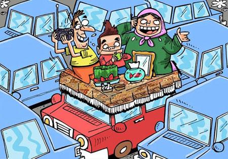 عید نوروز, طنز عید نوروز, کاریکاتور و تصاویر طنز