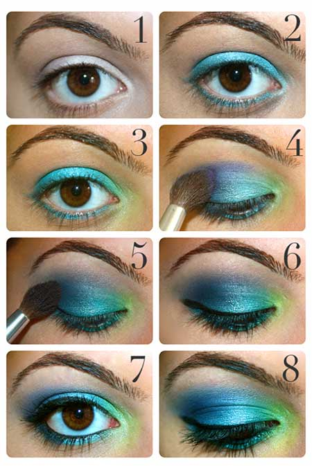 آموزش آرایش مناسب فرم های مختلف چشم