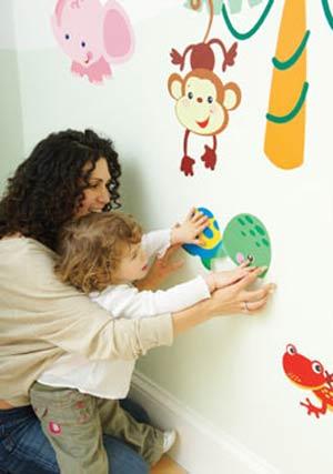تزیین اتاق کودک با استیکر , استیکرهای اتاق کودک