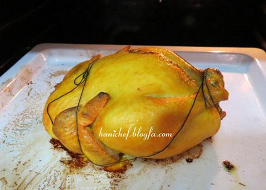 طرز تهیه مرغ شکم پر (کاملترین آموزش+تصویر مراحل)