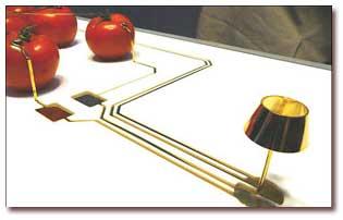 ابداع لامپی عجیب که با گوجه فرنگی روشن میشود!